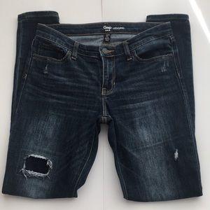 GAP destructed stretchy legging jeans size 4